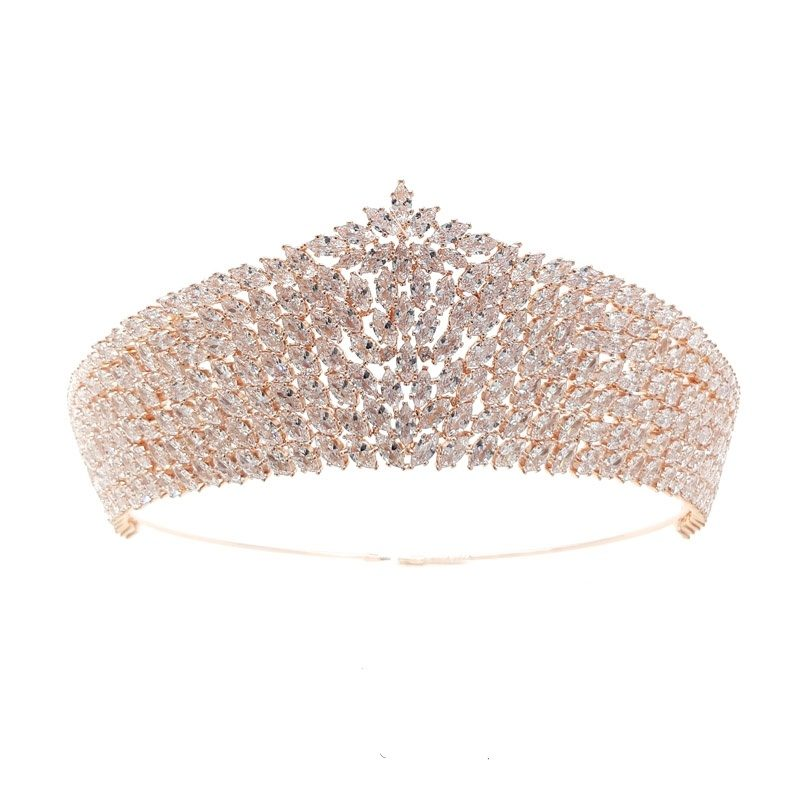 large gold bridal crown