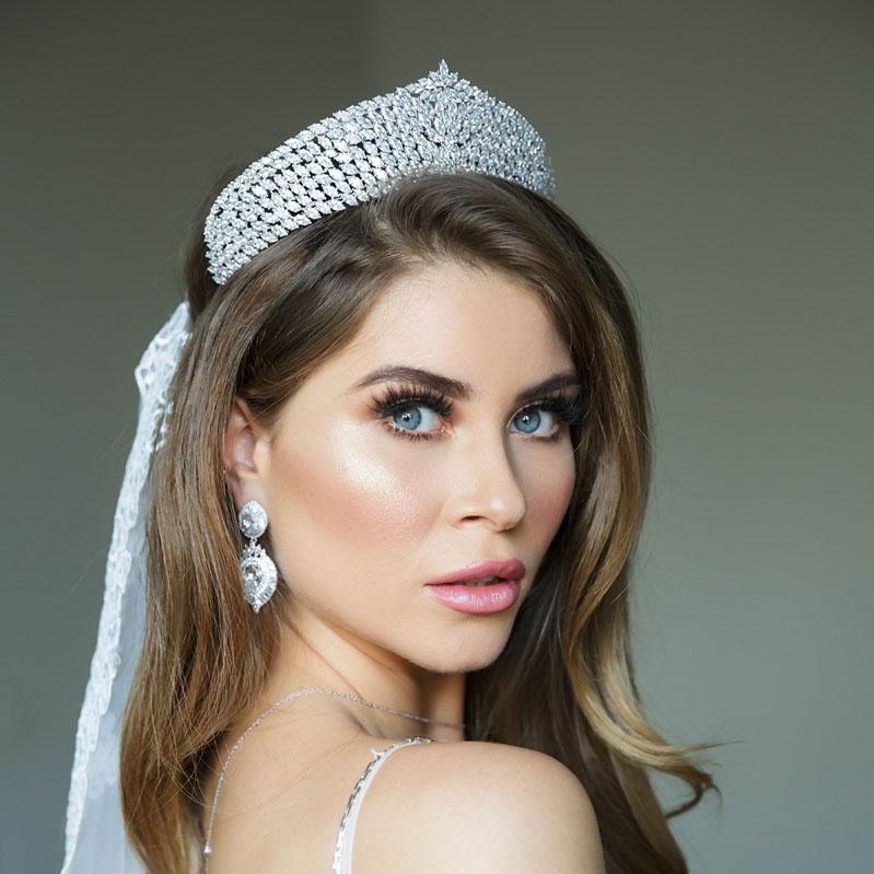 large silver tiara
