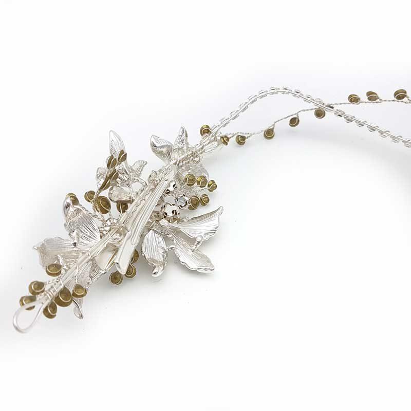 silver hair vine clip
