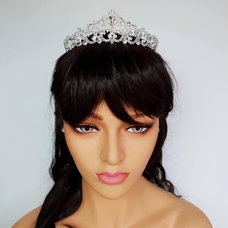 silver elegant bridal crown