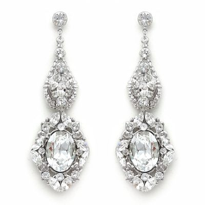 swarovski statement bridal earrings