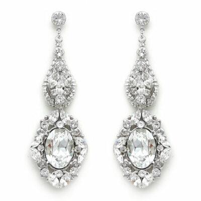 swarovski statement bridal earrings