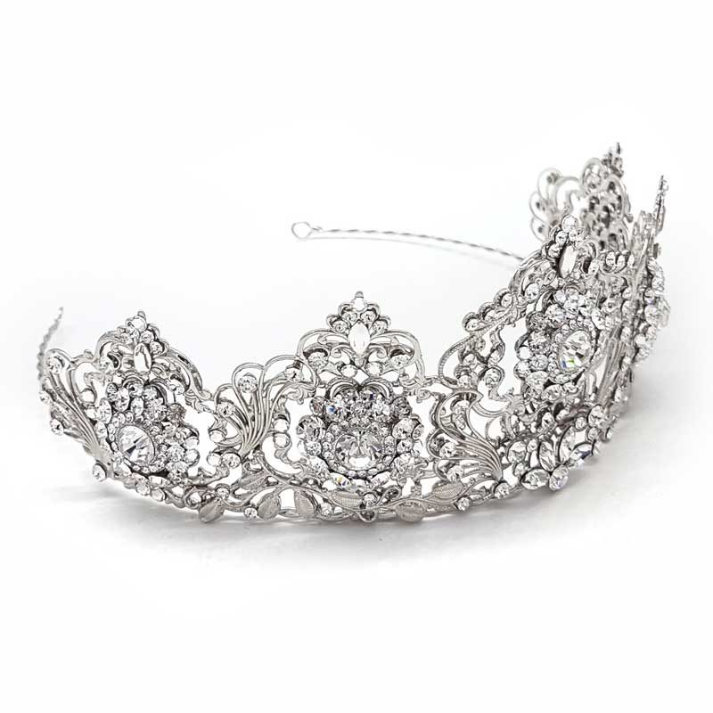 large crystal bridaql crown