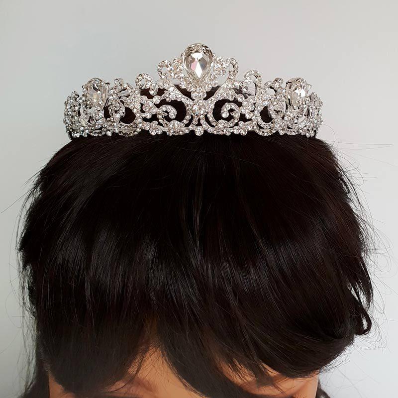 stunning silver bridal tiara