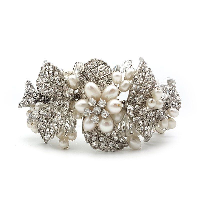 chunky floral bridal cuff