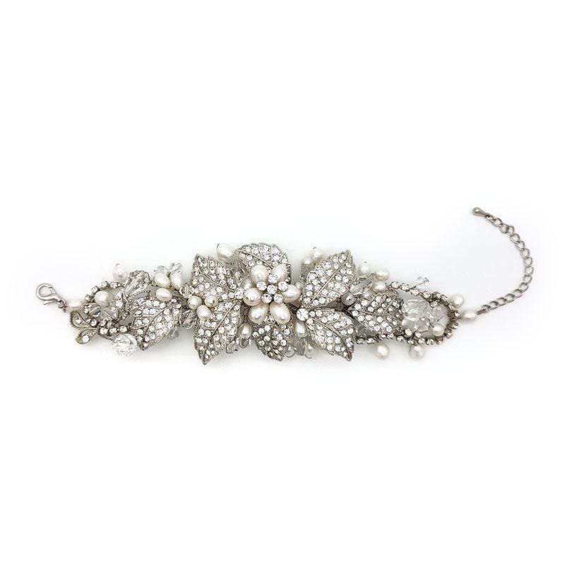 pearl chunky bridal cuff