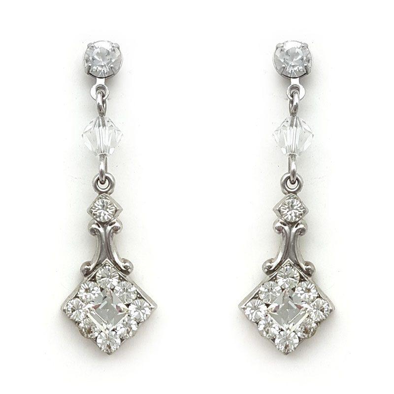 'Rhiannon' Swarovski Drop Earrings (Silver/Gold/Rose Gold)