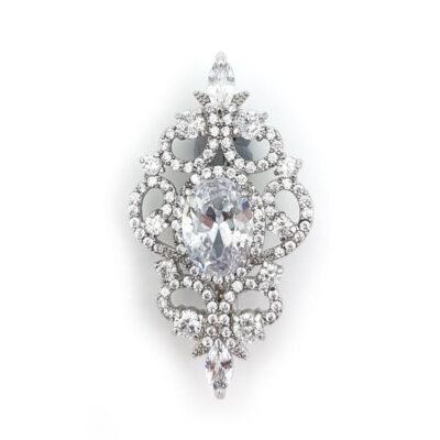 hailey silver edwardian brooch