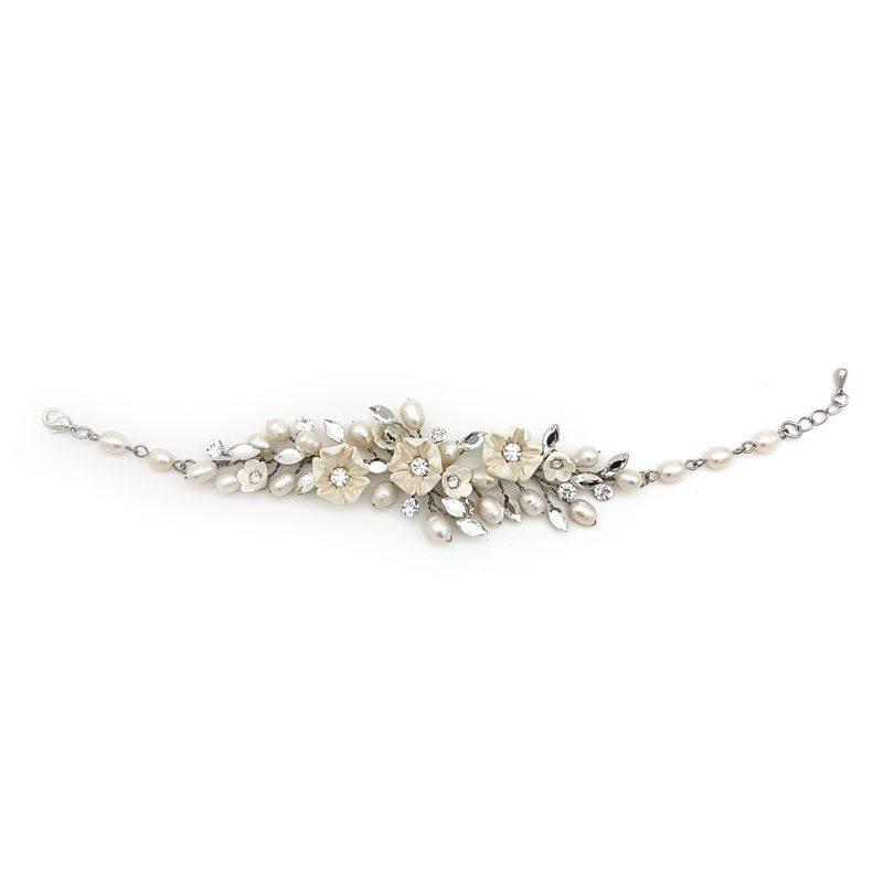 blossom crystal bridal bracelet