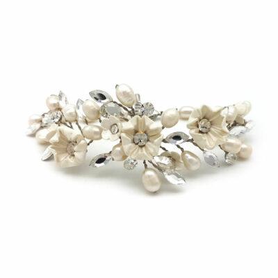 ivory floral bracelet