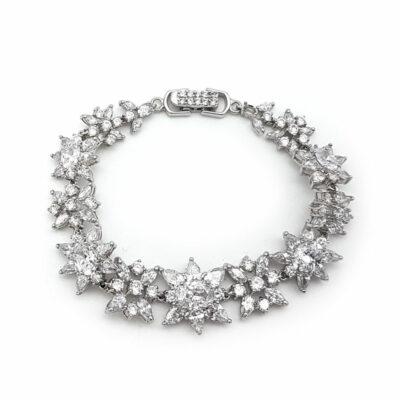 silver cubic zirconia bracelet