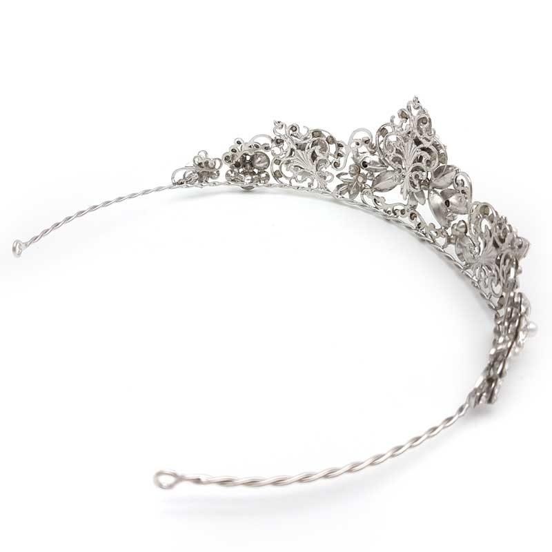 crystal pearl bridal crown