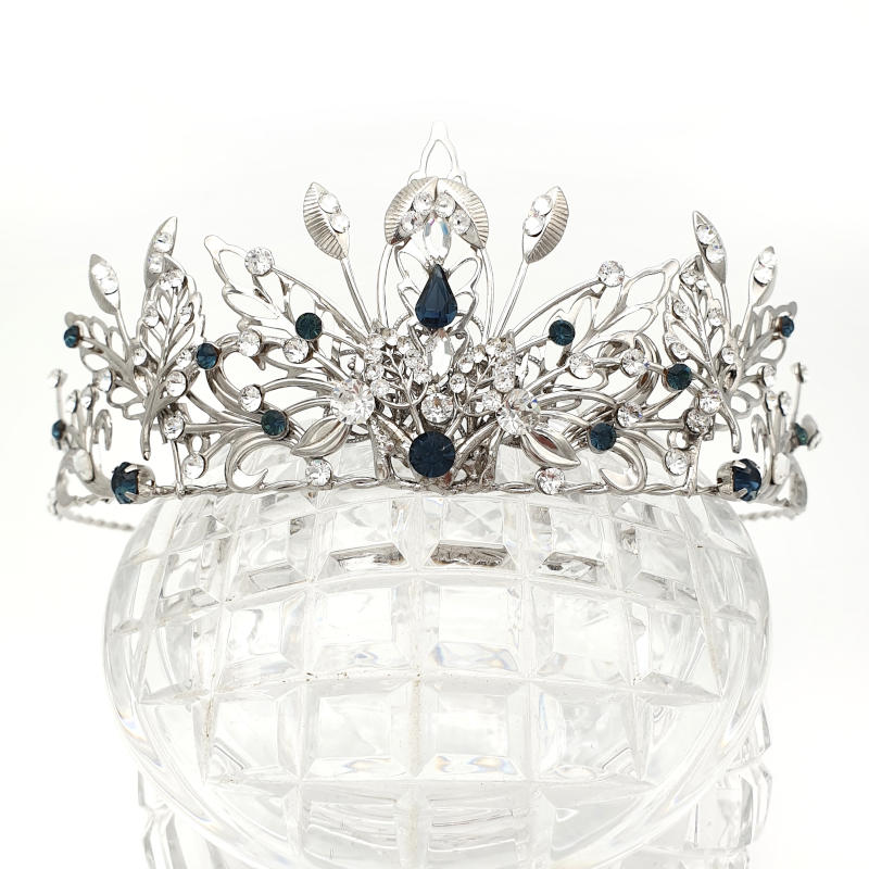 Blue bridal crown