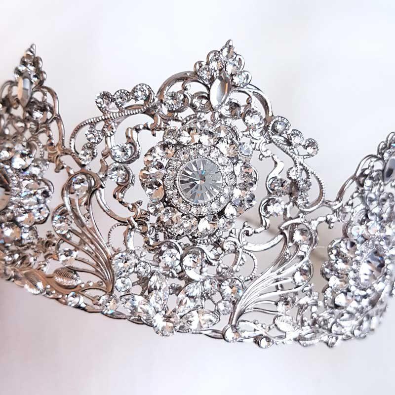 'Kelsey' Swarovski Bridal Crown Set (Silver/Gold/Rose Gold)