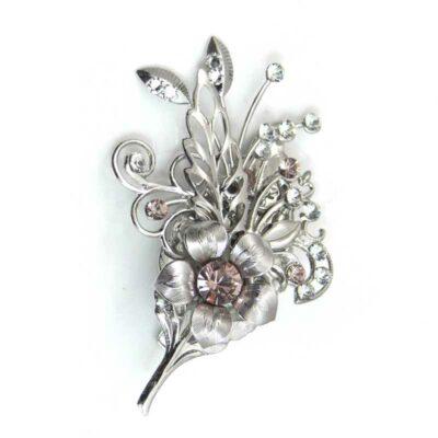 floral swarovski crystal hairclip