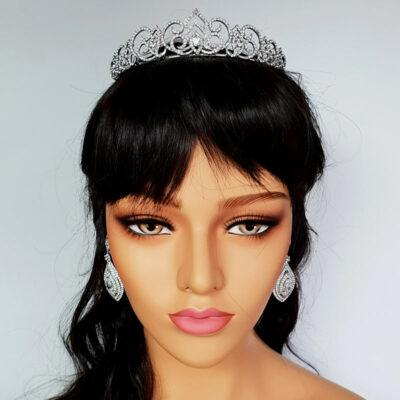 silver bridal tiara