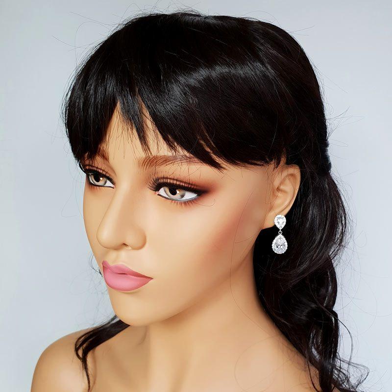 classic silver drop earrings