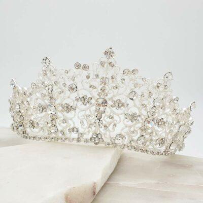 Alexis large silver bridal crown