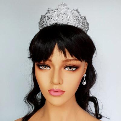 silver bridal hair crown