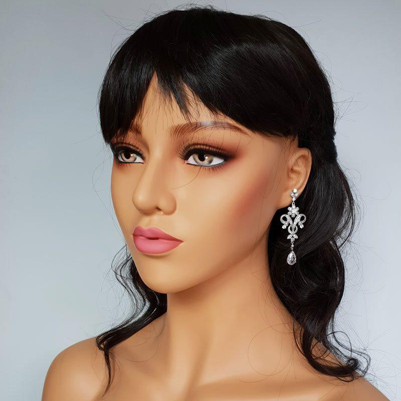 bold drop bridal earrings