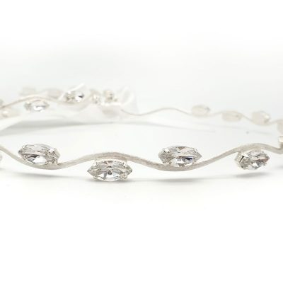 Swarovski Crystal silver wedding stefana