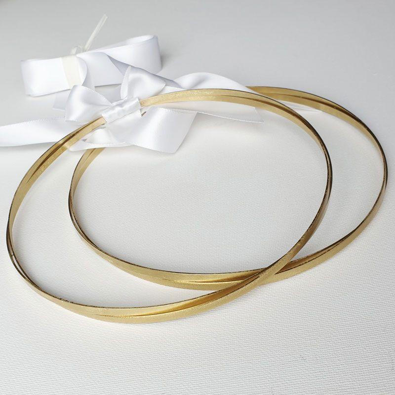 classic gold greek stefana set