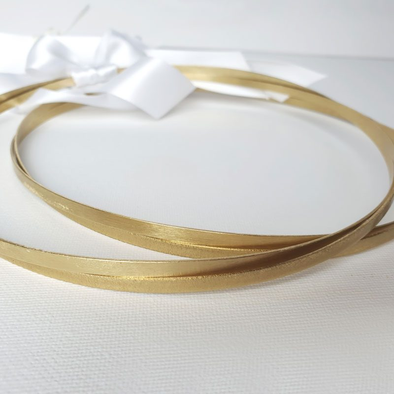 gold twisted greek wedding stefana