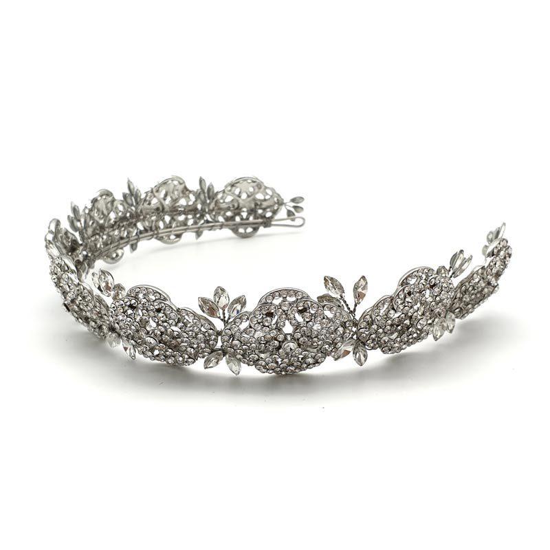 art deco bridal crown