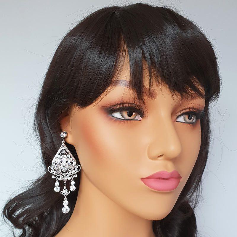 Large statement Swarovski Crystal earrings
