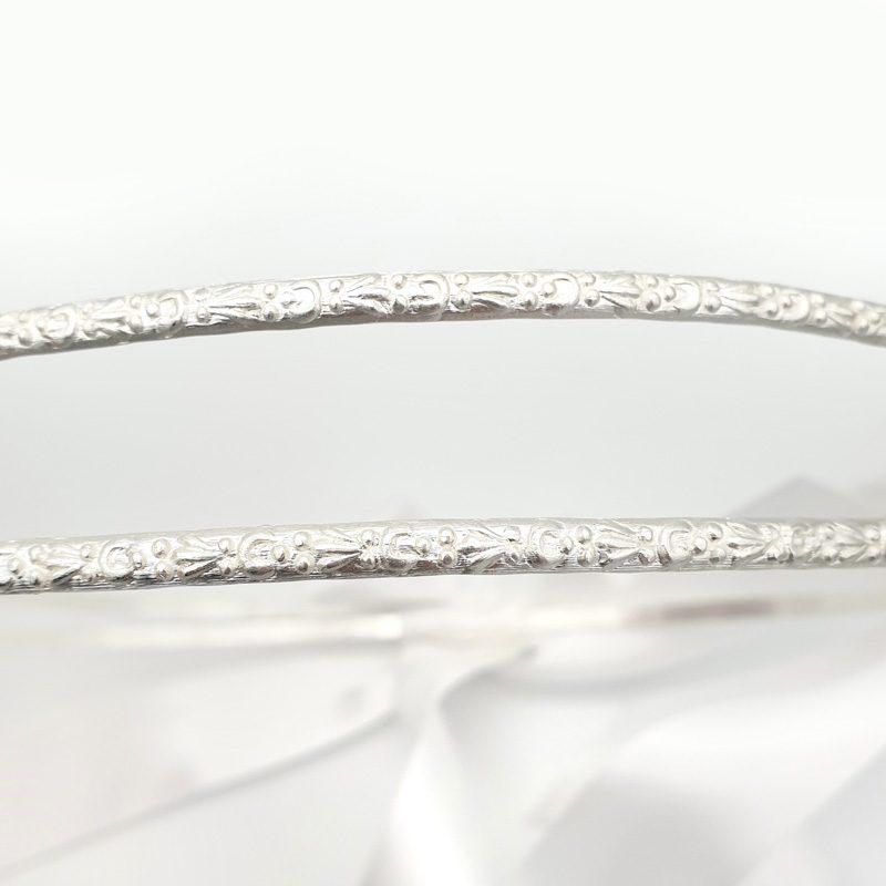 Silver Greek wedding stefana