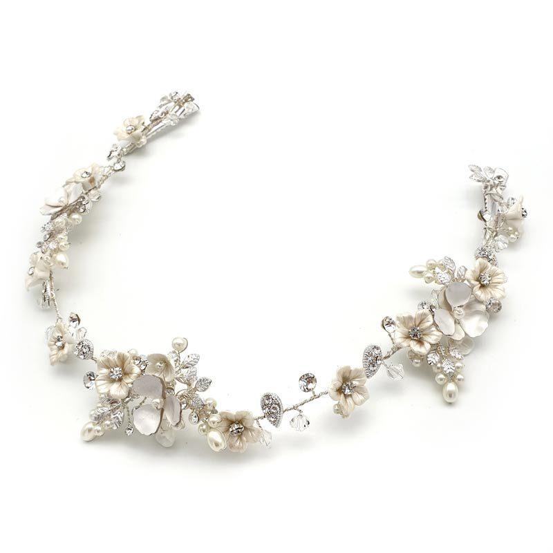 silver floral wedding vine