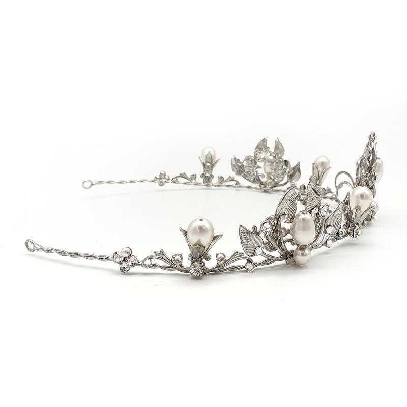 Swarovski pearl and crystal bridal crown