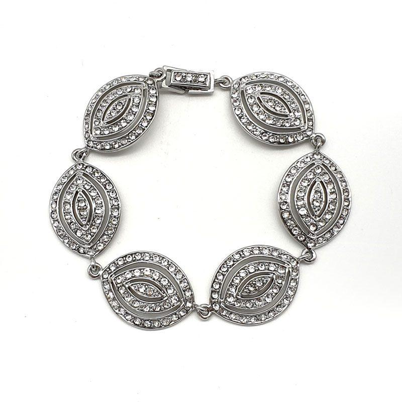 silver art deco bracelet