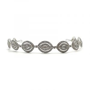 Silver art deco headband