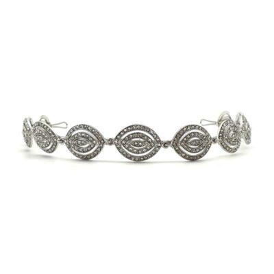 Silver art deco headband