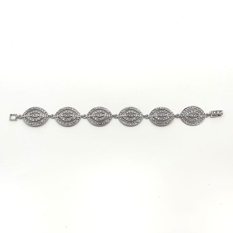 silver art deco bridal bracelet