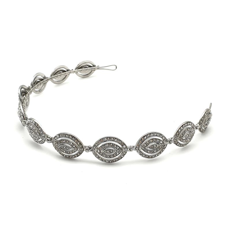 Silver classic art deco headband