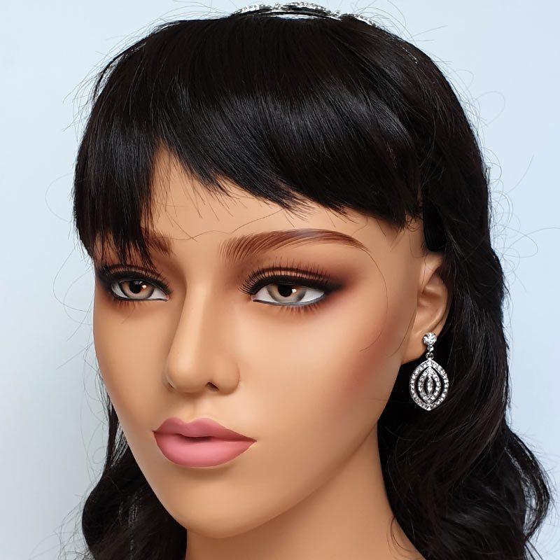 'Pamela' Silver Drop Earrings
