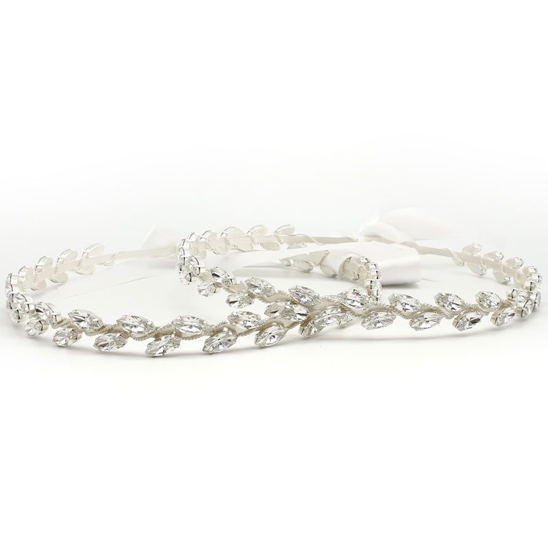 silver swarovski crystal wedding stefana crowns