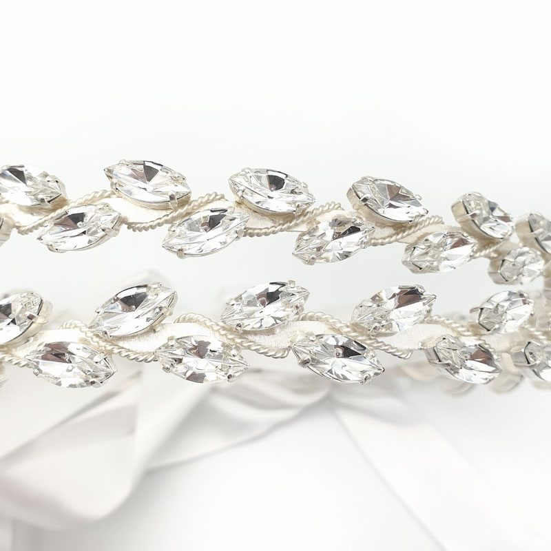 Silver marquee Swarovski crystal wedding stefana