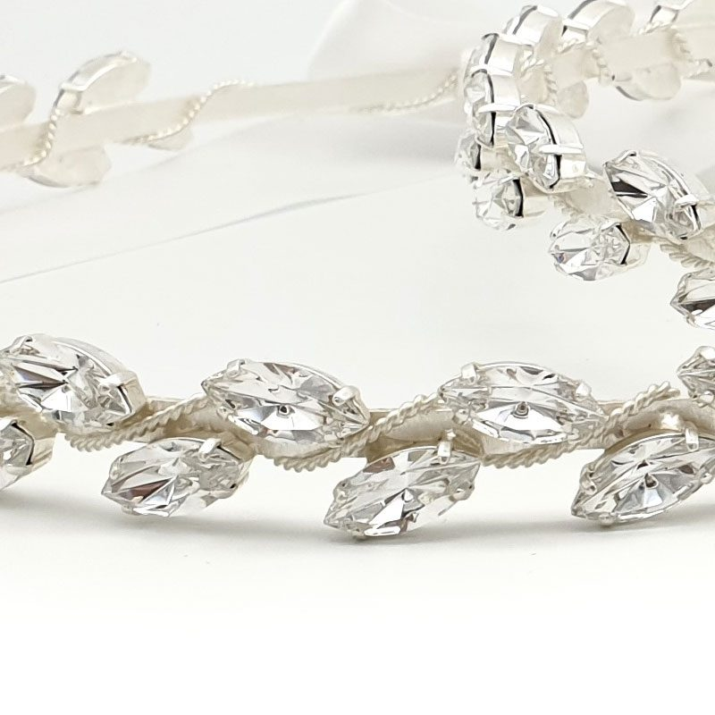 silver swarovski greek wedding crowns