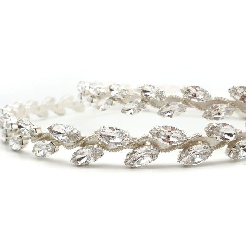 silver swarovski crystal bridal stefana