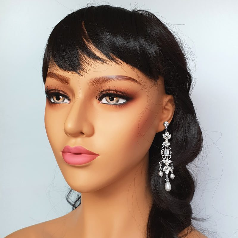 Swarovski crystal chandelier bridal earrrings