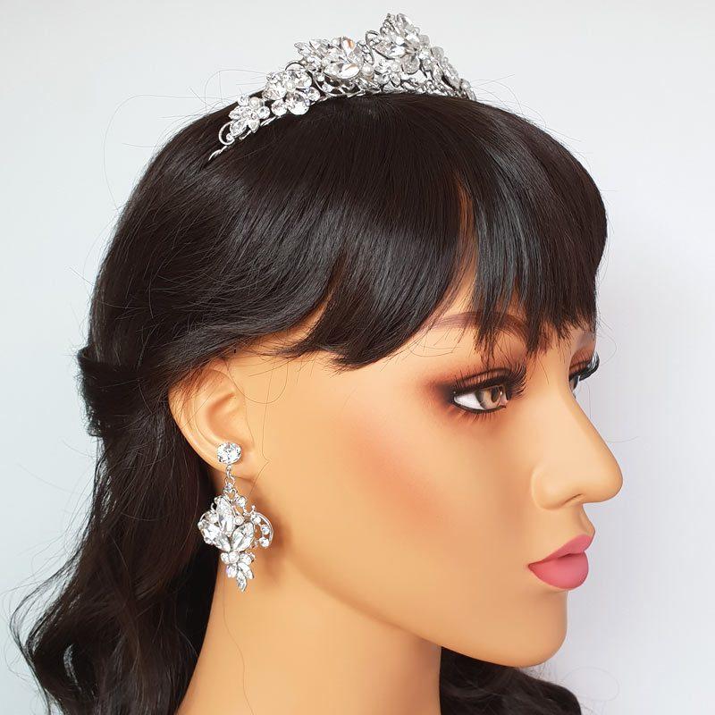 Swarovski crystal and pearl bridal drops
