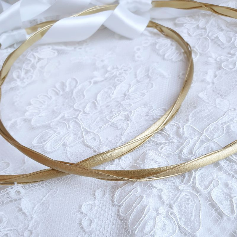 gold wedding stefana set