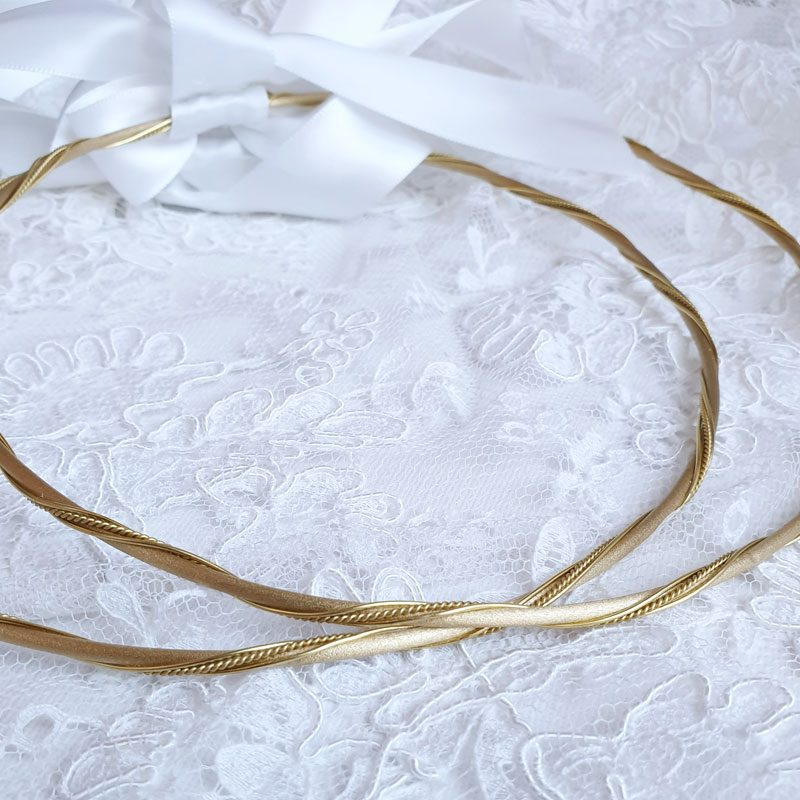 gold twisted wedding stefana