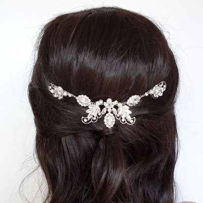Swarovski crystal and pearl hair vine