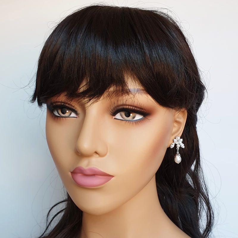 Swarovski pearl and crystal drop earrings