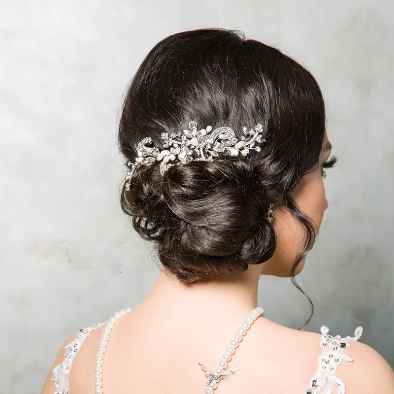 large silver bridal hair comb