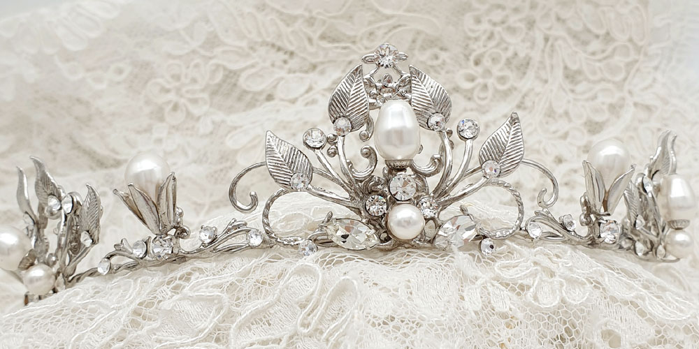 Swarovski Pearl and crystal bespoke bridal tiara